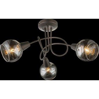 Globo Isla Deckenleuchte LED Bronze, 3-flammig
