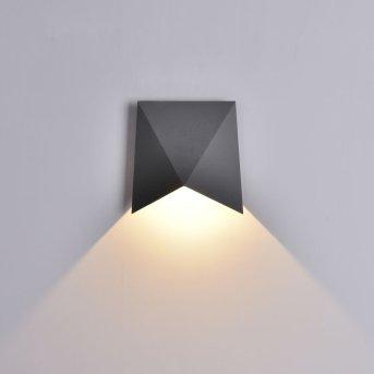 Mantra TRIAX Außenwandleuchte LED Grau, 1-flammig