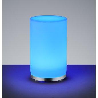 Reality JOHN Tischleuchte LED Chrom, 1-flammig, Fernbedienung, Farbwechsler