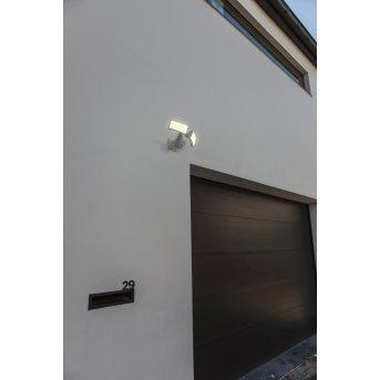 Lutec ARC Aussenwandleuchte LED Weiß, 1-flammig, Bewegungsmelder