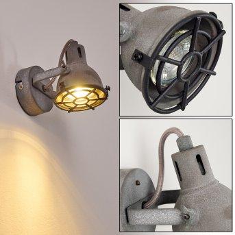 Jonsered Wandleuchte LED Schwarz, Grau, Steinoptik, 1-flammig