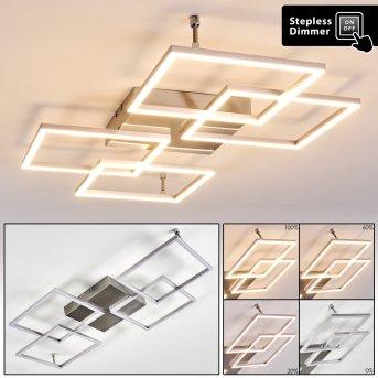 Veyrier Deckenleuchte LED Stahl gebürstet, 4-flammig