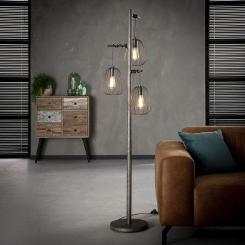 Veldhuizen Stehlampe Silber, 3-flammig