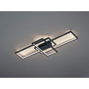 Trio Leuchten Thiago Deckenleuchte LED Anthrazit, 1-flammig, Fernbedienung, Farbwechsler