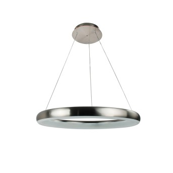 WOFI CLINT Pendelleuchte LED Nickel-Matt, 1-flammig, Fernbedienung