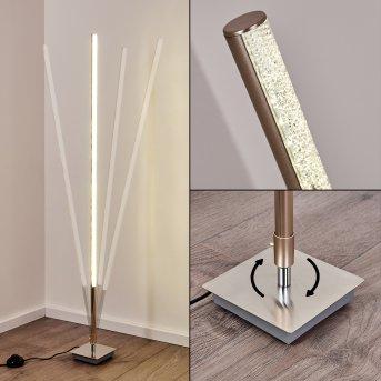 Strip Stehleuchte LED Edelstahl, 1-flammig