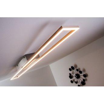 Paul Neuhaus Deckenleuchte LED Stahl gebürstet, 4-flammig