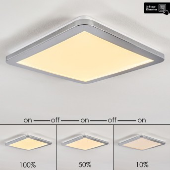 Fasola Deckenleuchte LED Nickel-Matt, 1-flammig