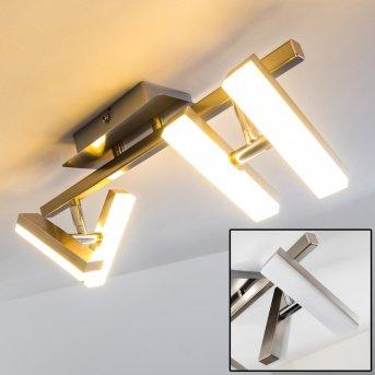 Sakami Deckenleuchte LED Nickel-Matt, 4-flammig