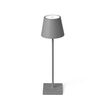 Faro Barcelona Toc Außentischleuchte LED Grau, 1-flammig