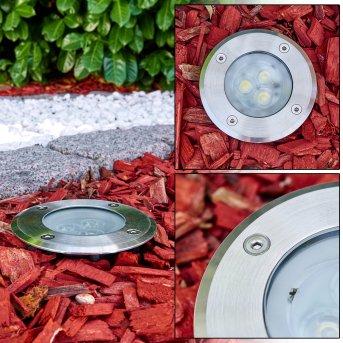 Ronshoved Bodeneinbauleuchte LED Chrom, Schwarz, 3-flammig