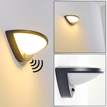 Carano Außenwandleuchte LED Schwarz, 1-flammig, Bewegungsmelder