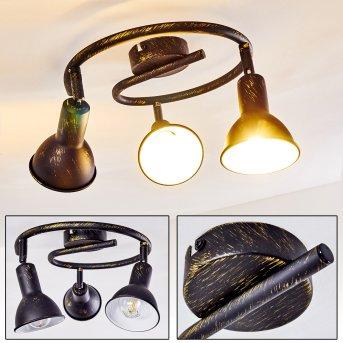 Polmak Deckenleuchte Schwarz-Gold, 3-flammig