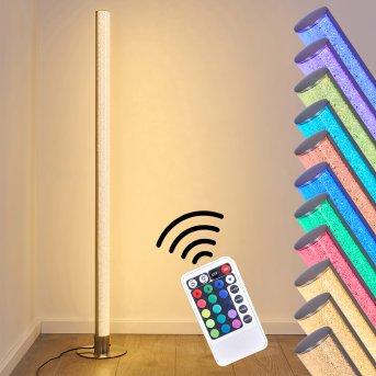 Pipe RGB Stehlampe LED Nickel-Matt, 1-flammig, Fernbedienung, Farbwechsler