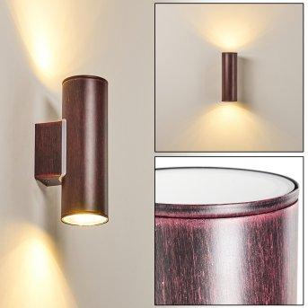 Brachy Außenwandleuchte LED Rot, Schwarz, 2-flammig