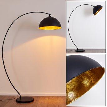 Miranda Bogenlampe Schwarz, 1-flammig