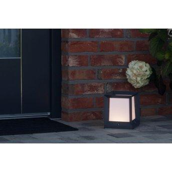 AEG Kubus Außensockelleuchte LED Anthrazit, Weiß, 1-flammig