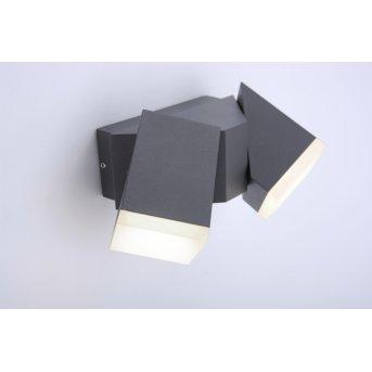 Paul Neuhaus Außenwandleuchte RYAN LED Anthrazit, 2-flammig