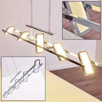 Gravendal Pendelleuchte LED Chrom, 5-flammig