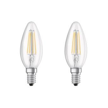 Osram LED 2er Pack E14 4 Watt 2700 Kelvin 470 Lumen