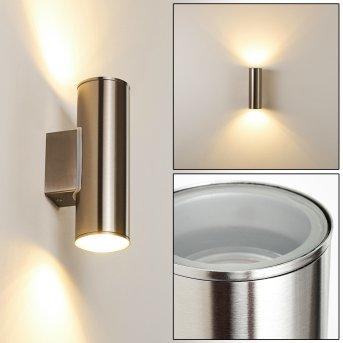 Brachy Außenwandleuchte LED Edelstahl, 2-flammig