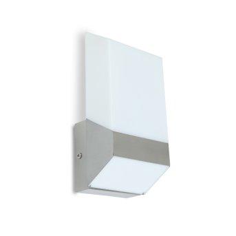 Lutec FLAT Außenwandleuchte LED Silber, 1-flammig