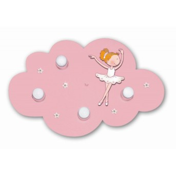 Waldi Deckenleuchte Wolke Ballerina Rosa, 4-flammig