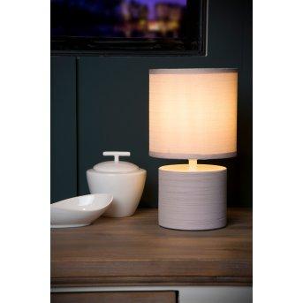 Lucide GREASBY Tischlampe Beige, 1-flammig