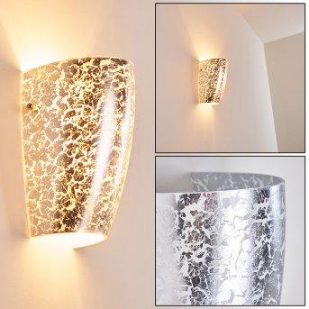 Severo Wandleuchte Silber, 1-flammig