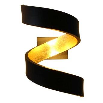 Lutec HELIX Wandleuchte Schwarz, Gold, 2-flammig