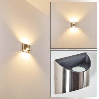 Vano Aussenwandleuchte LED Nickel-Matt, 2-flammig