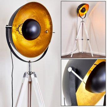 Jupiter Stehlampe Chrom, Weiß, 1-flammig