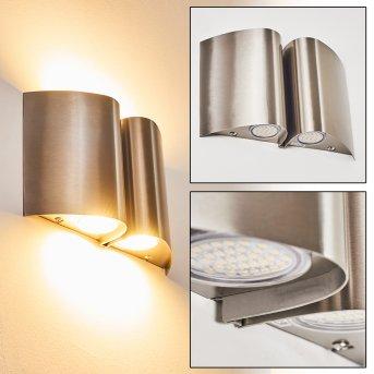 Cornus Außenwandleuchte LED Edelstahl, 4-flammig