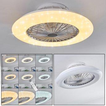 Piraeus Deckenventilator LED Weiß, Titan, 1-flammig, Fernbedienung