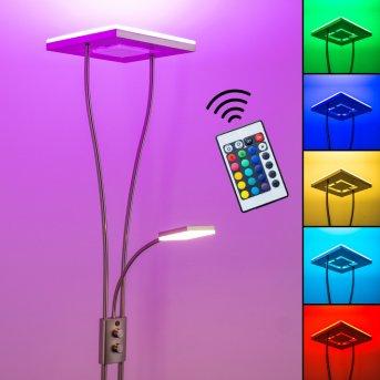 Notigi Deckenfluter LED Nickel-Matt, 2-flammig, Fernbedienung, Farbwechsler