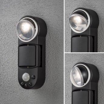 Konstsmide Prato Batterie Wandleuchte LED Weiß, 1-flammig, Bewegungsmelder