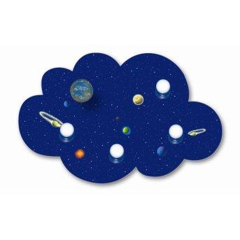 Waldi Deckenleuchte Wolke Weltall Blau, 4-flammig