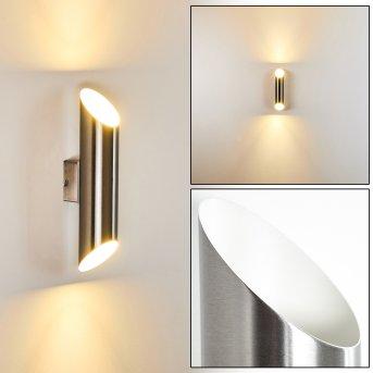 Saulcy Außenwandleuchte LED Edelstahl, 2-flammig