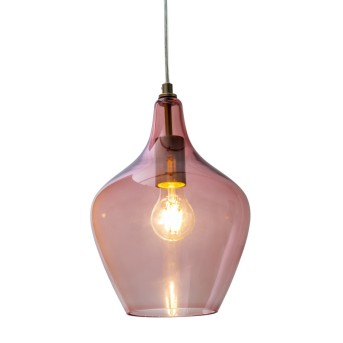 Nino Leuchten PASO Pendelleuchte Pink, 1-flammig