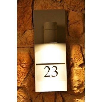 Konstsmide MODENA Hausnummernleuchte Grau, 1-flammig