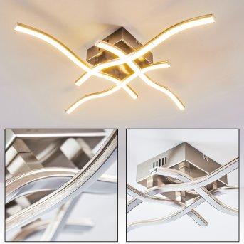 Mapleton Deckenleuchte LED Nickel-Matt, 4-flammig