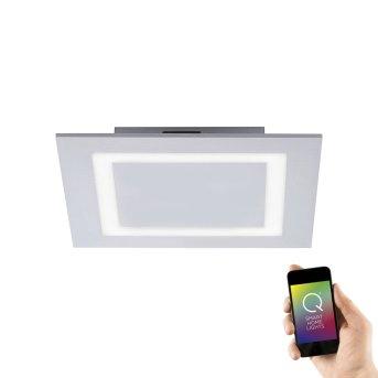 Paul Neuhaus Deckenleuchte Q-MIRAN LED Aluminium, 1-flammig, Fernbedienung, Farbwechsler