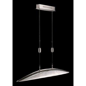 Fischer Leuchten Shine Pendelleuchte LED Nickel-Matt, 6-flammig