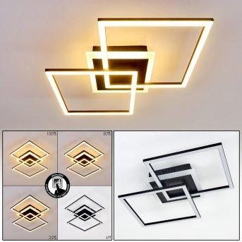 Lithgow Deckenleuchte LED Schwarz, 1-flammig