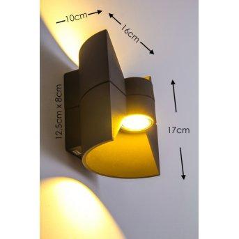 San Jose Aussenwandleuchte LED Anthrazit, 2-flammig