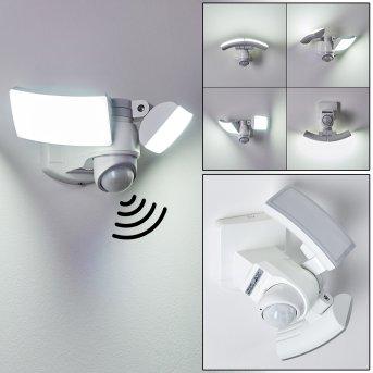 Foroyar Außenwandleuchte LED Weiß, 2-flammig, Bewegungsmelder