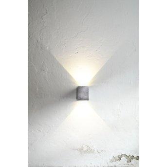 Nordlux CANTO KUBI Außenwandleuchte LED Verzinkt, 2-flammig