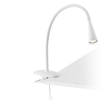 Faro Barcelona Lena Klemmleuchte LED Weiß, 1-flammig