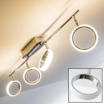 Dobris Deckenspot LED Chrom, 4-flammig