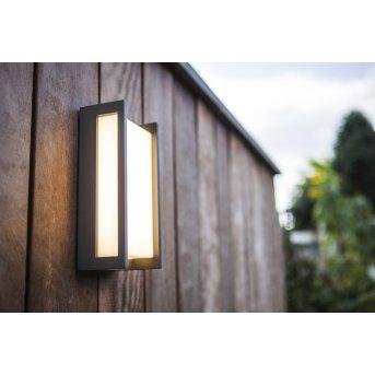 Lutec QUBO Außenwandleuchte LED Anthrazit, 1-flammig